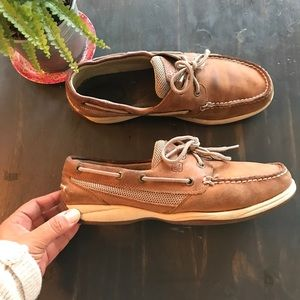 Sperry brown leather Intrepid boat shoes size 10